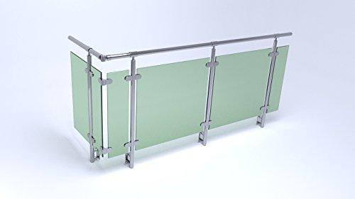 balkongel nder seitenmontage edelstahl mit vsg glas bausatz. Black Bedroom Furniture Sets. Home Design Ideas